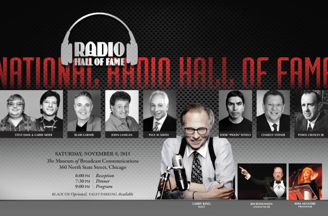National Radio Hall of Fame 2013 Invitation