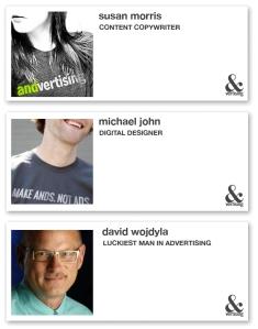 Business profiles of Susan Morris, Michael John, and David Wojdyla
